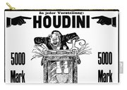 Vintage Poster Advertising A Performance By Houdini, 1922 Carry-all Pouch