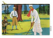 Vintage Poster Advertising Samaden In Switzerland Carry-all Pouch
