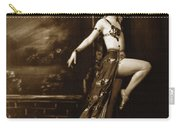 Vintage Poster Posing Dancer In Costume Carry-all Pouch