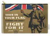 Vintage Poster - This Is Your Flag Carry-all Pouch