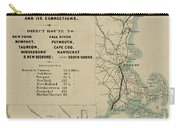 Vintage Railway Map 1865 Carry-all Pouch