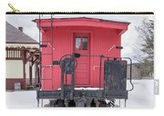 Vintage Red Caboose In The Snow Carry-all Pouch