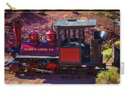 Vintage Red Calico Train Carry-all Pouch