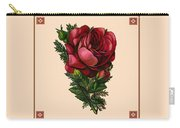 Vintage Red Rose Botanical Carry-all Pouch