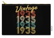 Vintage Retro Since 1935 Birthday Gift Carry-all Pouch