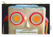 Vintage Robot Toy Square Pop Art Carry-all Pouch