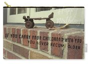 Vintage Roller Skate Quote Carry-all Pouch
