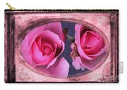 Vintage Rose Bud Plate Frame Painting Carry-all Pouch