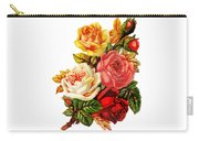 Vintage Rose I Carry-all Pouch by Kim Kent