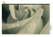 Vintage Rose In Green Carry-all Pouch