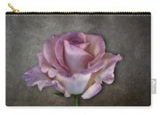 Vintage Rose On Gray Carry-all Pouch
