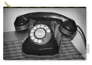 Vintage Rotary Phone Black And White Carry-all Pouch