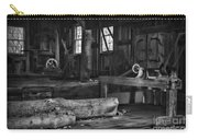 Vintage Sawmill In Black And White Carry-all Pouch