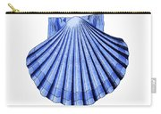 Vintage Scallop Shell Blue Carry-all Pouch