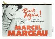 Vintage Show Poster Marcel Marceau Carry-all Pouch