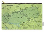 Vintage Smoky Mountains National Park Map Carry-all Pouch