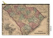 Vintage South Carolina Map Carry-all Pouch