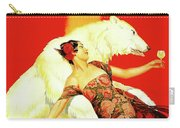 Vintage Spanish Liquor Ad, Flamenco Dancer, Polar Bear Carry-all Pouch