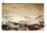 Vintage Style Post Card From Loveland Pass Carry-all Pouch by Juli Scalzi