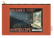 Vintage Thomas Edison Print - The Vitascope Carry-all Pouch