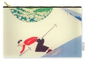 Vintage Travel Skiing Carry-all Pouch