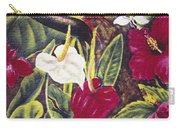Vintage Tropical Flowers Carry-all Pouch