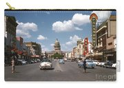 Vintage View Downtown Austin Looking Up Congress Avenue In Front Carry-all Pouch
