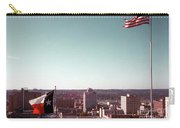 Vintage View Of The Texas And Usa Flags Flying On Top Of Texas State Capitol Carry-all Pouch