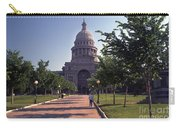 Vintage View Of The Texas State Capitol In Downtown Austin, Texas Carry-all Pouch