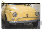 Vintage Yellow Fiat 500 In Rome Carry-all Pouch