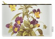 Viola Tricolour  Carry-all Pouch by Pierre Joseph Redoute