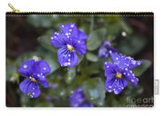 Violas After Spring Rain Carry-all Pouch