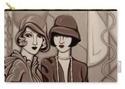 Violet And Rose In Sepia Tone Carry-all Pouch