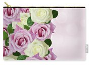 Violet  And White Roses Carry-all Pouch