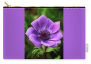 Violet Anemone Carry-all Pouch