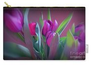 Violet Colored Tulips Carry-all Pouch