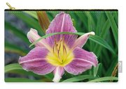 Violet Day Lily Carry-all Pouch