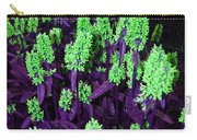 Violet Dream On Green Carry-all Pouch