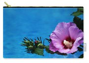 Violet Satin Carry-all Pouch