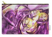 Violet Summer Abstract Carry-all Pouch