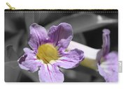 Violet Trumpet Vine Selective Color Carry-all Pouch