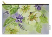 Violets And Wild Roses Carry-all Pouch