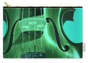 Violin In Green Carry-all Pouch