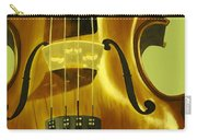 Violin In Yellow Carry-all Pouch