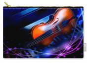 Violin On Piano Carry-all Pouch