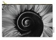 Violin Scroll And Sunflower In Black And White Carry-all Pouch