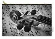 Violin Scroll On Sheet Music Carry-all Pouch