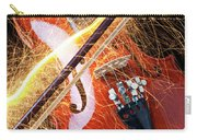 Violin With Sparks Flying From The Bow Carry-all Pouch by Garry Gay