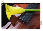 Violin With Yellow Calla Lily Carry-all Pouch