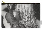 Violin Woman - Id 16218-130643-9888 Carry-all Pouch